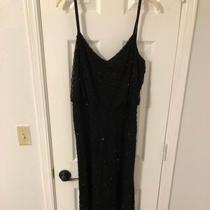 Adrianna Papell Formal Black Beaded Gown Size 12